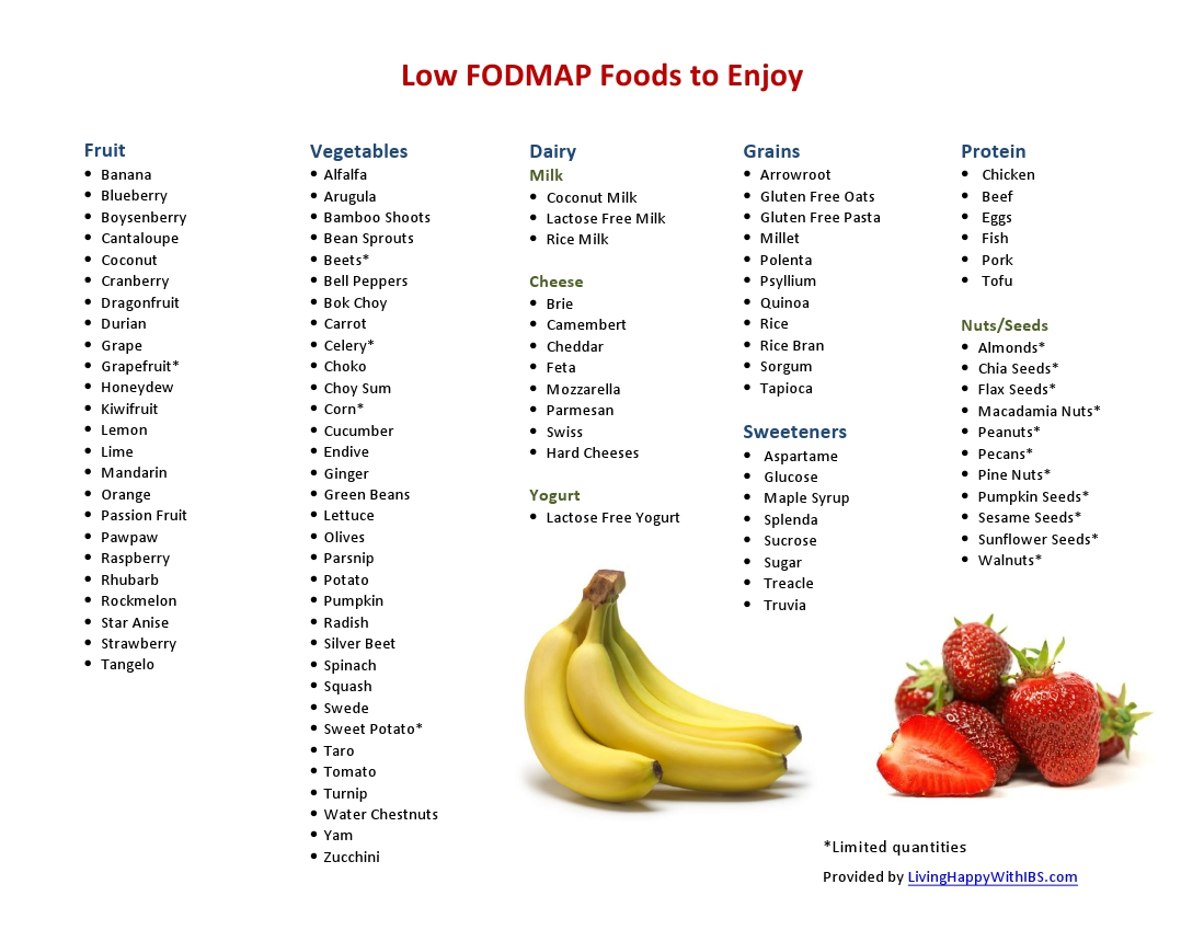 what to eat on low fodmap diet